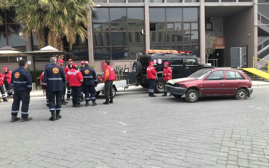 Προσομοίωση διάσωσης πολυτραυματία από τροχαίο ατύχημα